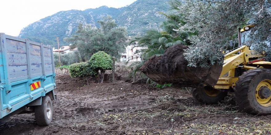 Bahçe atıklarından gübre üretildi