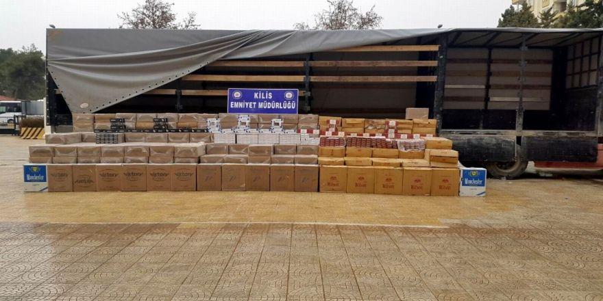 159 bin paket kaçak sigara yakalandı