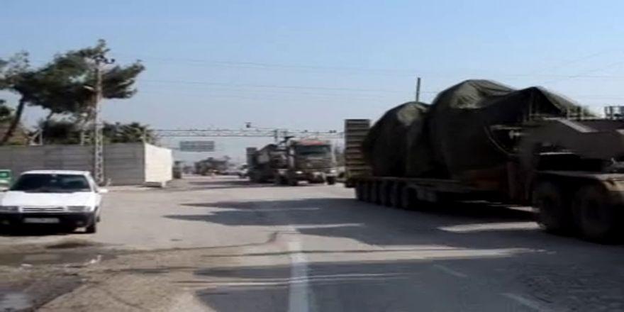 Afrin operasyonu öncesi sınırda askeri araç hareketliliği