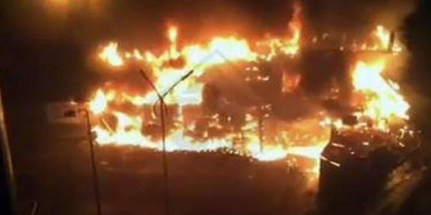 Süpermarkette yangın