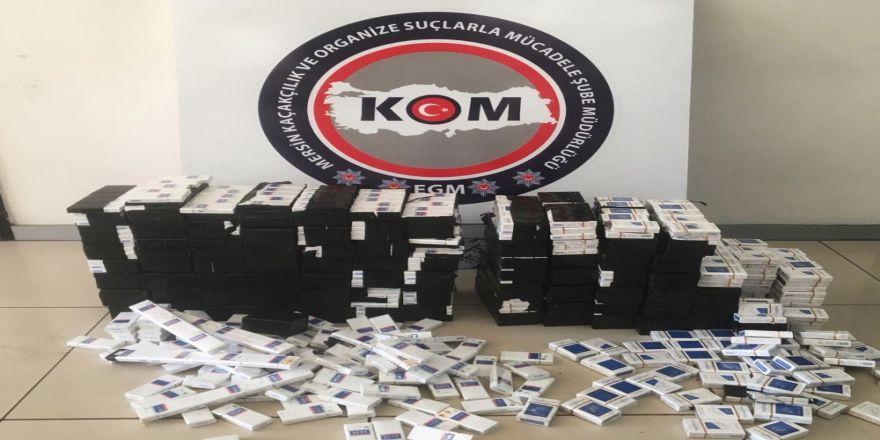 3 bin 724 paket gümrük kaçağı sigara ele geçirildi