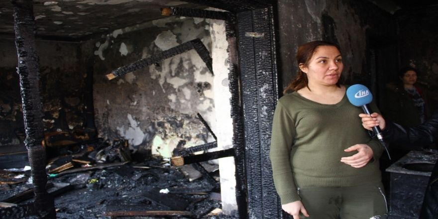 Yangında yaşadığı dehşet anlarını anlattı