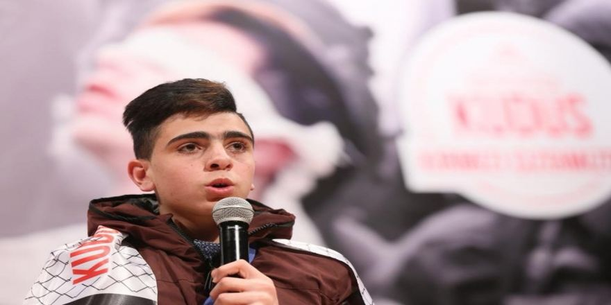 Kudüs direnişinin kahramanı Fevzi El-Cuneydi yaşadıklarını gençlerle paylaştı