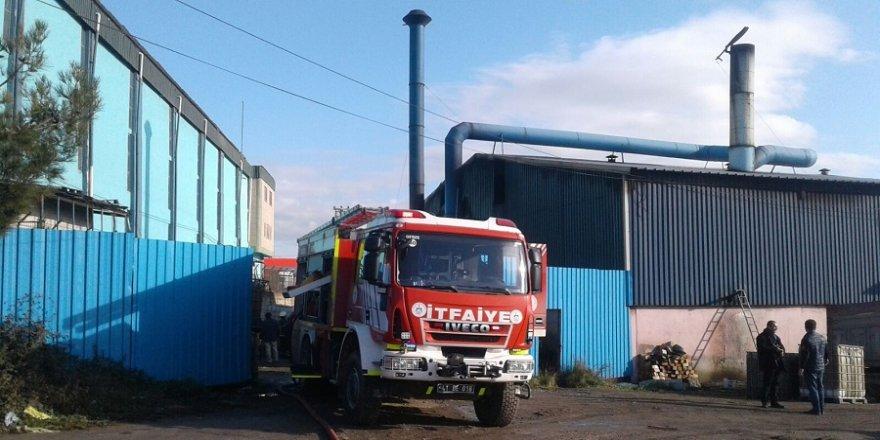 Döküm fabrikasında yangın