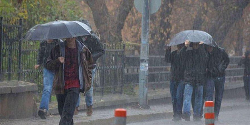 5 il için yoğun yağış ve kuvvetli rüzgar uyarısı