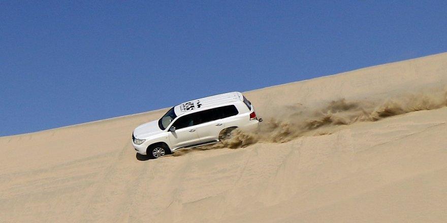 Katar çöllerinde safari heyecanı