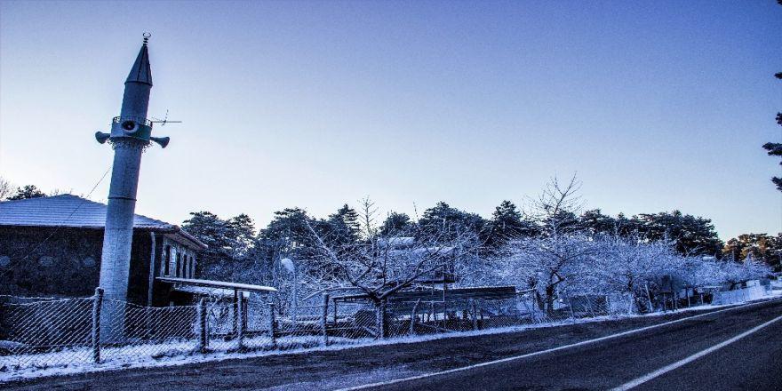 Kazdağlarının soğuk güzelliği fotoğraf karelerine yansıdı