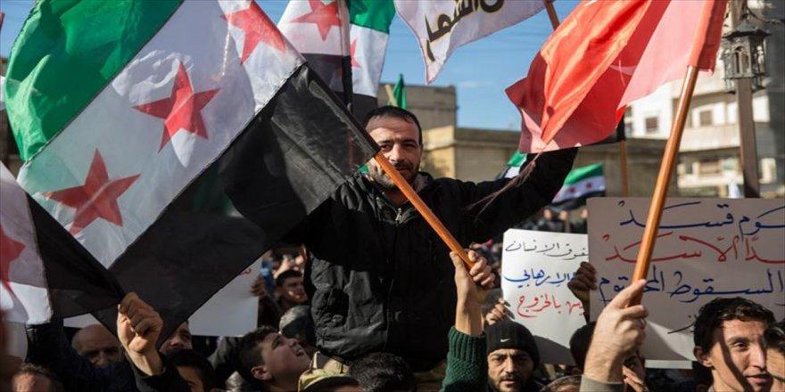 Suriyelilerden Afrin operasyonuna destek