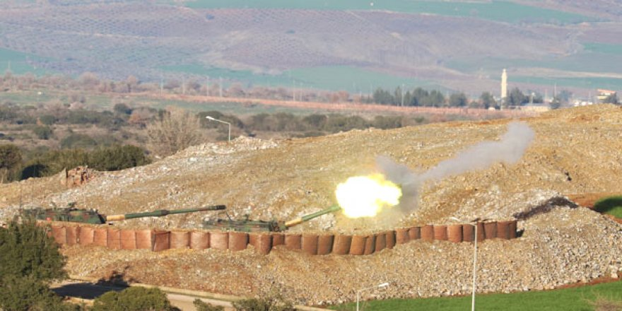 Türk topçusu, Afrin'i vurdu!