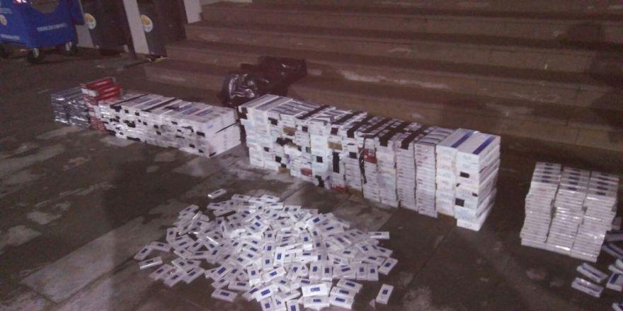 8 bin 350 paket kaçak sigara ele geçirildi