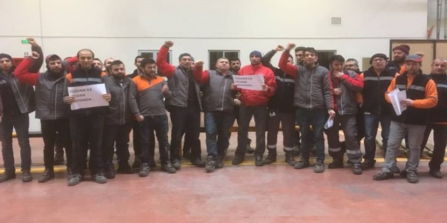 İşçiler üretimi durdurdu