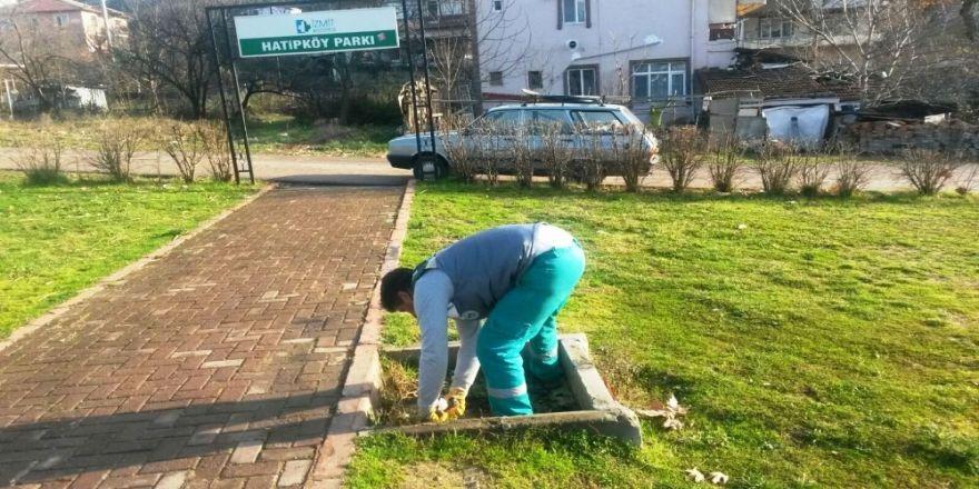 Parkalarda bakım yapılıyor