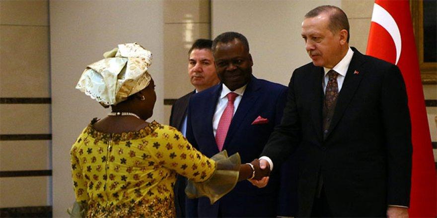 Erdoğan, Kongo Büyükelçisini kabul etti