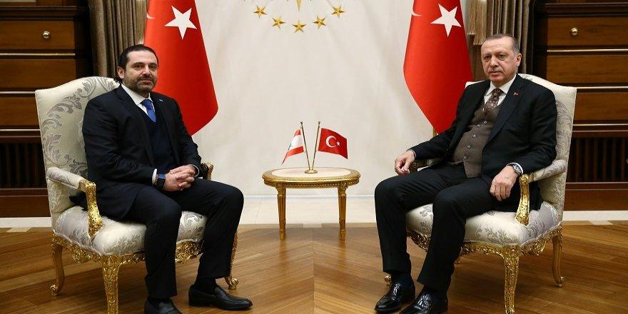 Erdoğan, Hariri'yi kabul etti
