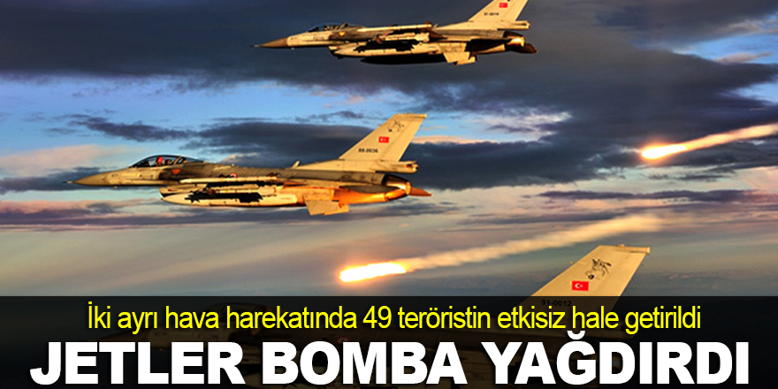 TSK: 49 terörist etkisiz hâle getirildi