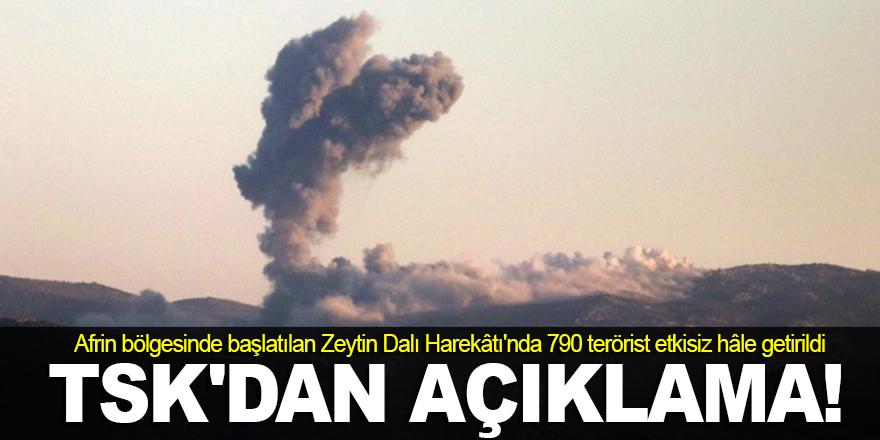 790 terörist etkisiz hâle getirildi