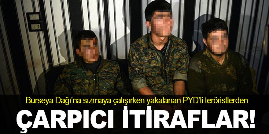 Yakalanan teröristlerden çarpıcı itiraflar