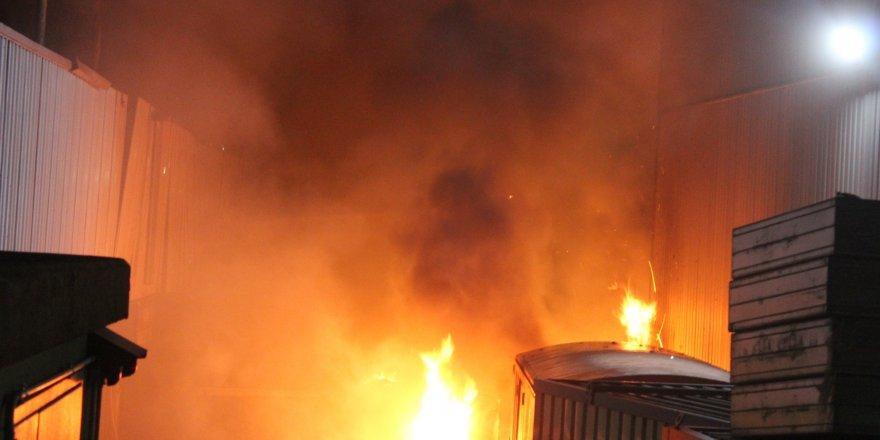 Fabrika alev alev yandı !