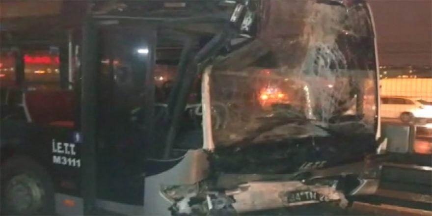 Haramidere'de metrobüs kazası