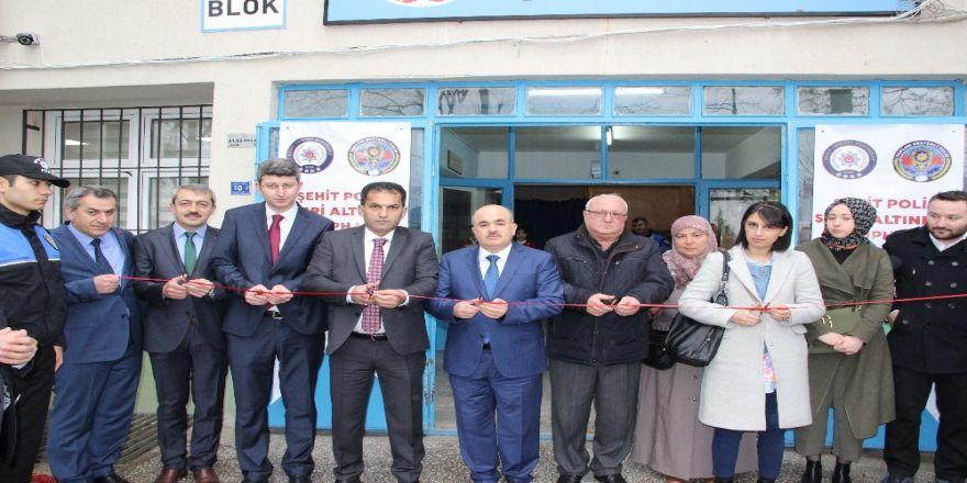 Şehit Sabri Altınbaş kütüphanesi açıldı