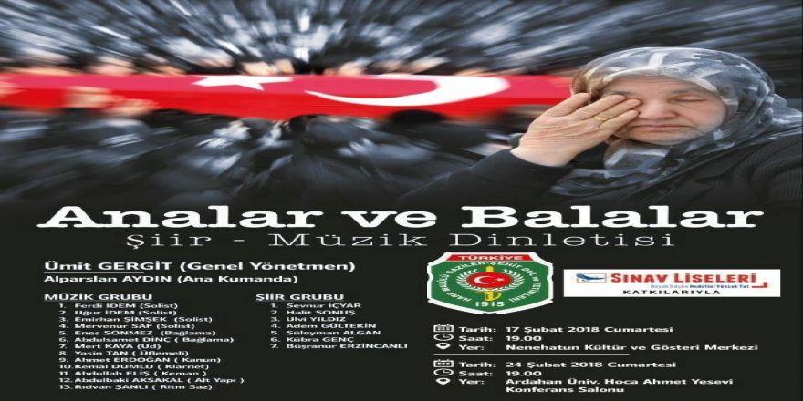 """""""Analar ve Balalar"""" isimli şiir ve müzik dinletisi"""
