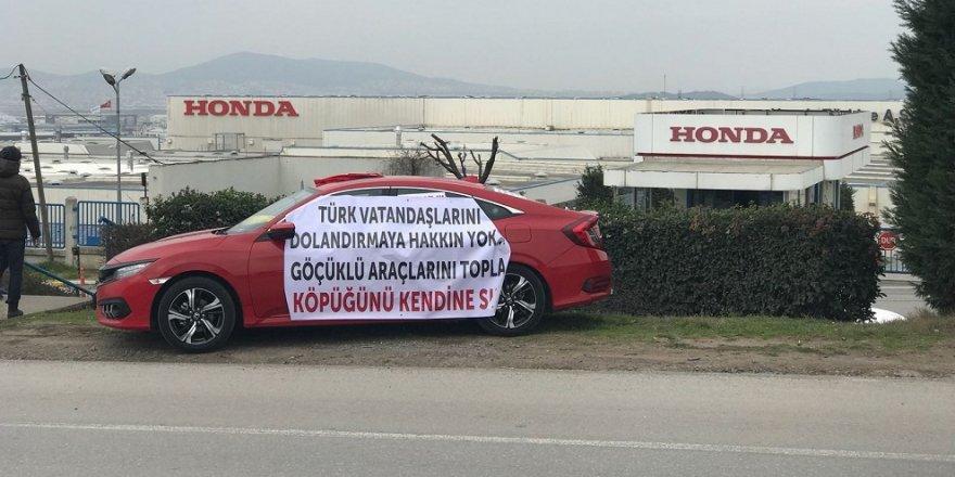 Çayırova'da Honda eylemi!