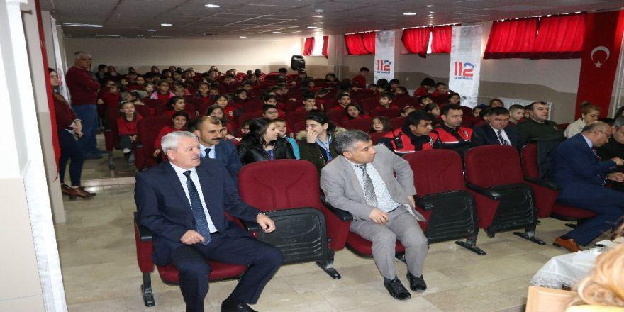 Öğrencilere 112 Acil Çağrı Merkezi anlatıldı
