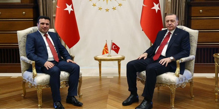 Erdoğan, Zaev'i  ağırladı