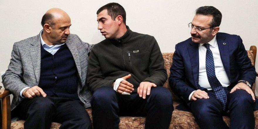 Işık, Afrin Gazisini ziyaret etti
