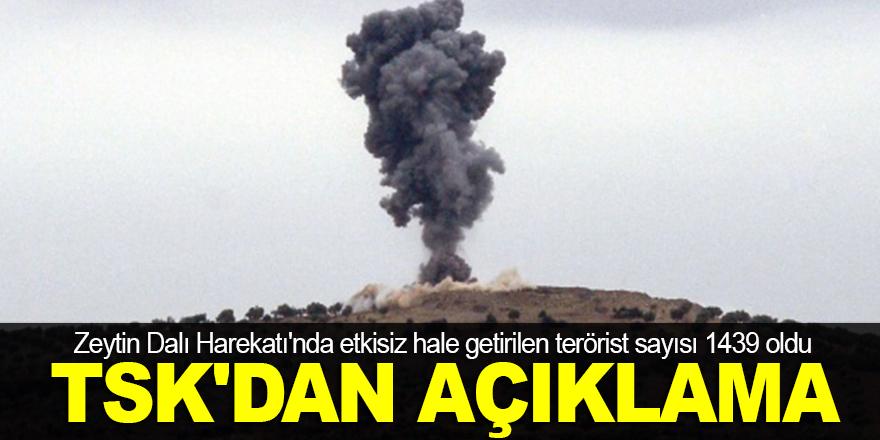 Bin 439 terörist etkisiz hale getirildi!