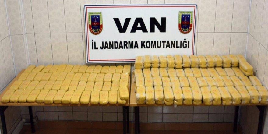 75 kilo 240 gram eroin ele geçirildi