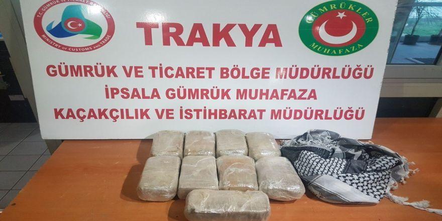 İpsala'da operasyonlarda 20 kilo uyuşturucu ele geçirildi