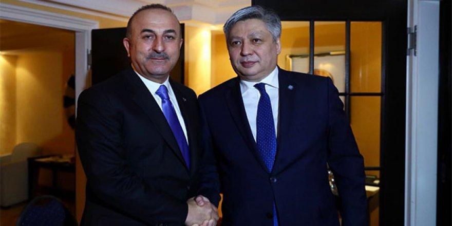 Çavuşoğlu, Kırgız mevkidaşı ile bir araya geldi