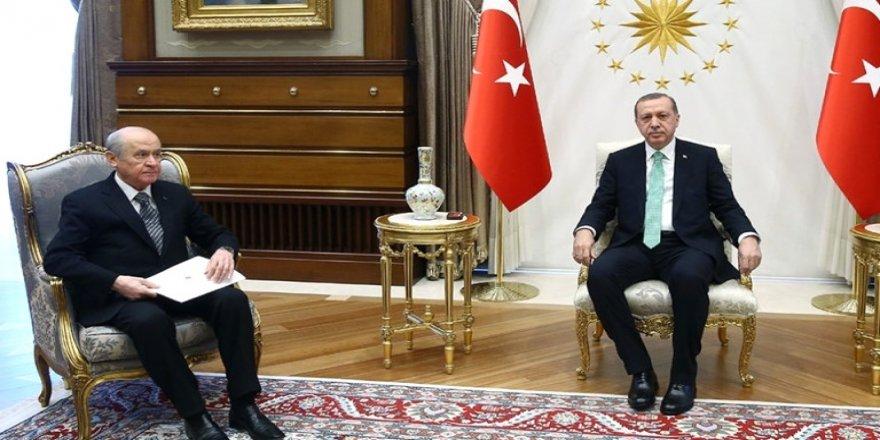 Erdoğan-Bahçeli görüşmesinde tam mukabakat!