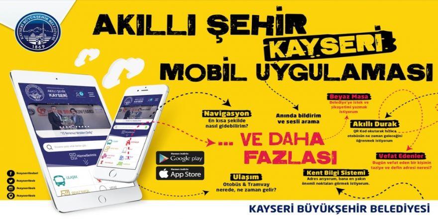 'Akıllı Şehir Kayseri' mobil uygulaması kullanılmaya başlandı