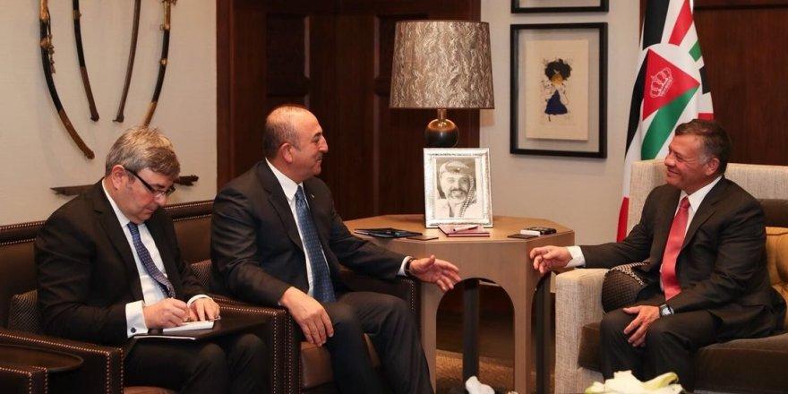 Çavuşoğlu, Kral Abdullah ile görüştü