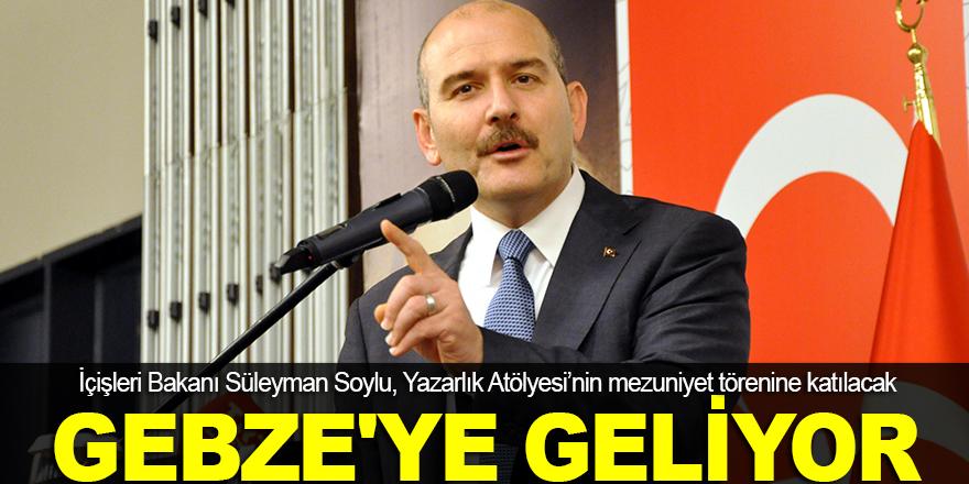 Süleyman Soylu, Gebze'ye geliyor