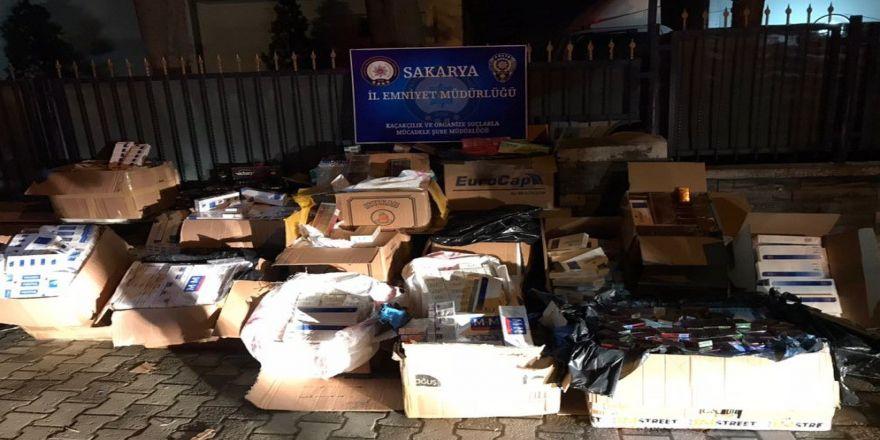 17 bin 279 paket kaçak sigara ele geçirildi