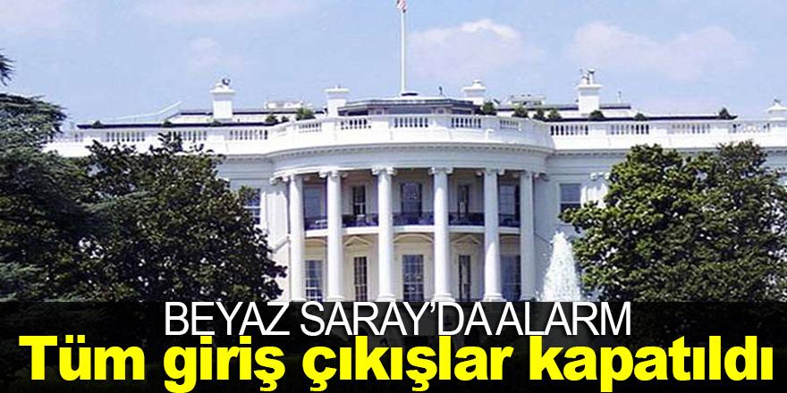 Beyaz Saray'da alarm ! Tüm giriş ve çıkışlar kapatıldı