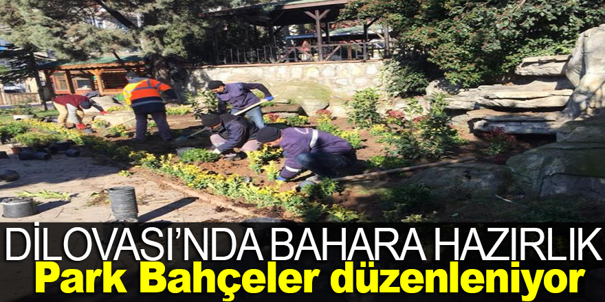 Dilovası'nda Park bahçelerde Bahar'a hazırlık