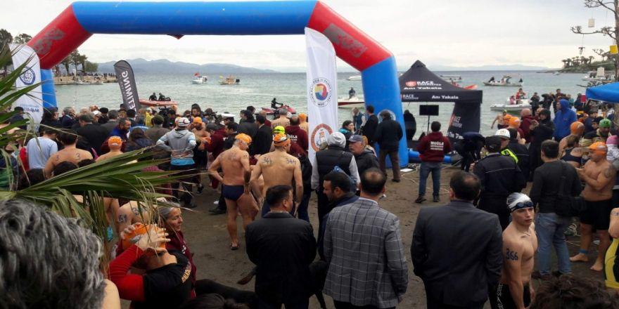 12. Datça Açık Deniz Kış Yüzme Maratonu başladı