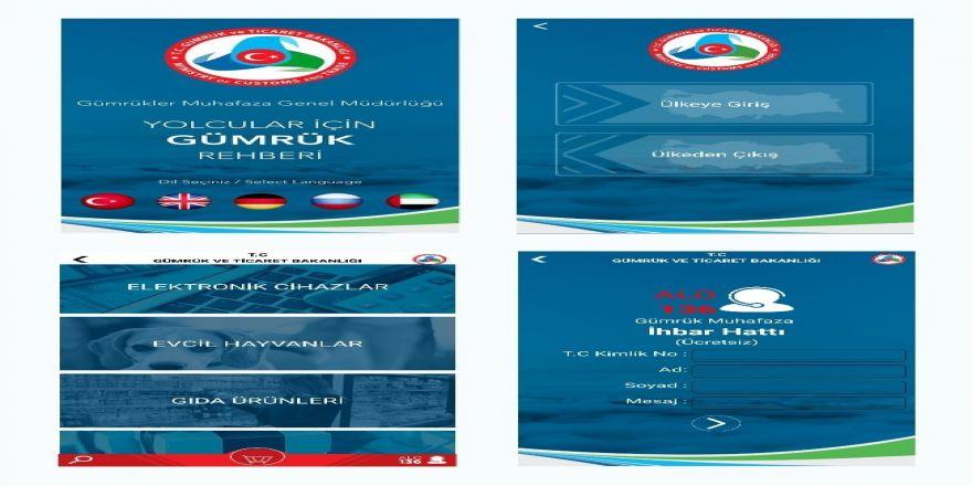 """Gümrük ve Ticaret Bakanlığı'ndan """"Yolcular için Gümrük Rehberi"""" uygulaması"""