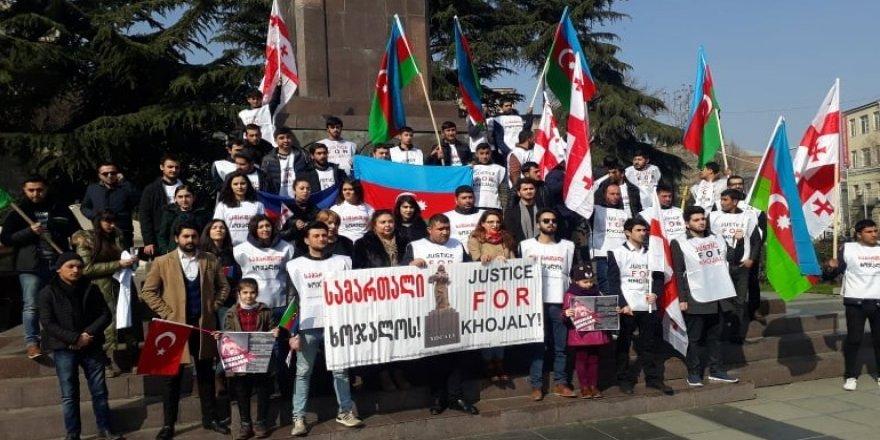 Hocalı katliamı, Tiflis'te protesto edildi