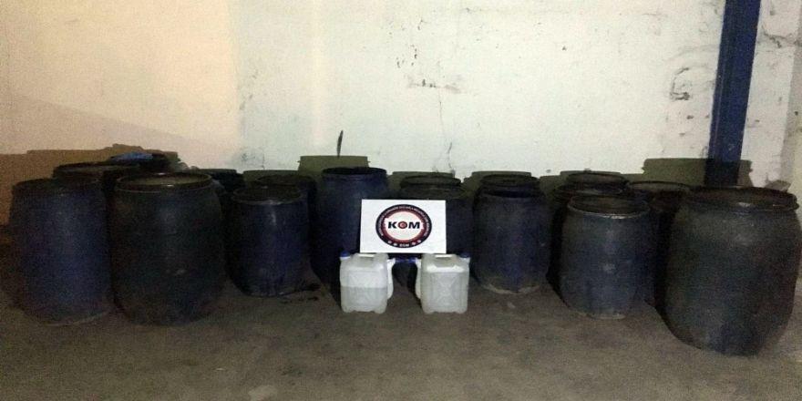 Bin 720 litre sahte içki ele geçirildi