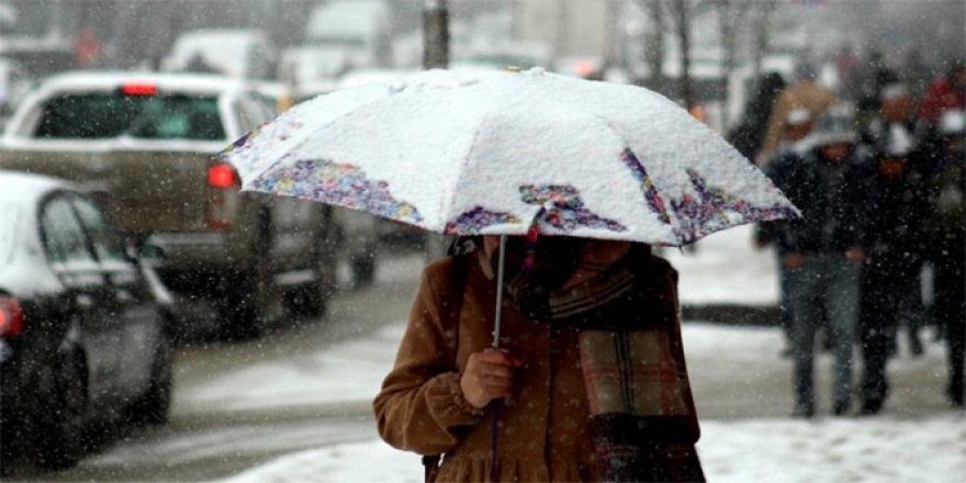 Yağmur ve kar yağışı uyarısı