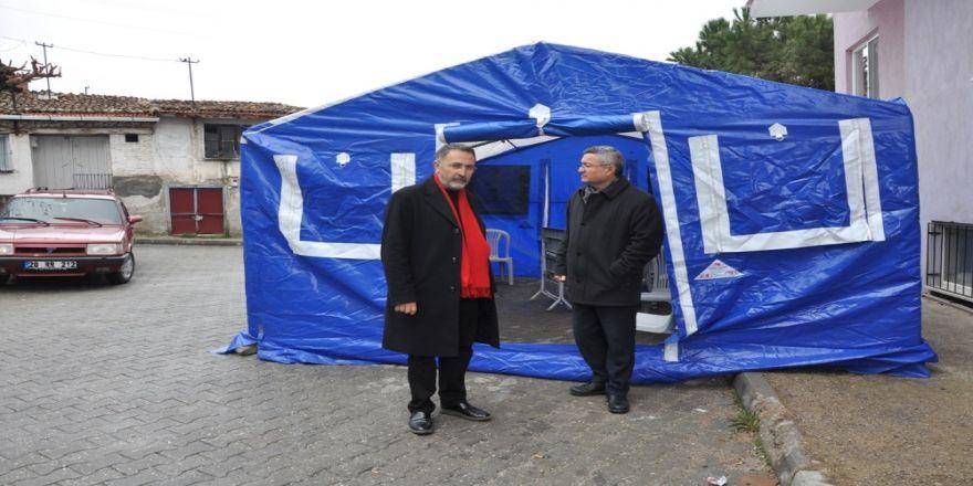 Buldan Belediyesi ilçede taziye çadırı uygulaması başlattı