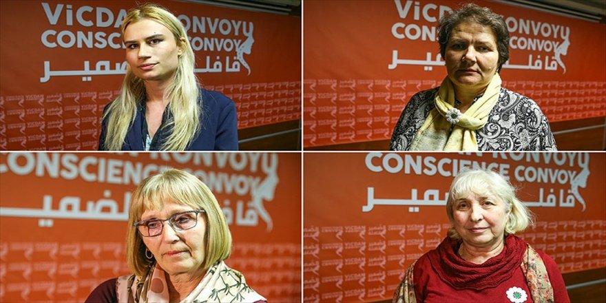 Bosna'nın acılı anneleri 'Kadınlar İçin Vicdan Konvoyu'nda