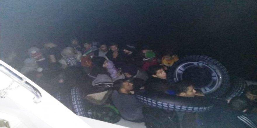 Yunanistan'a geçmeye çalışan 43 göçmen yakalandı