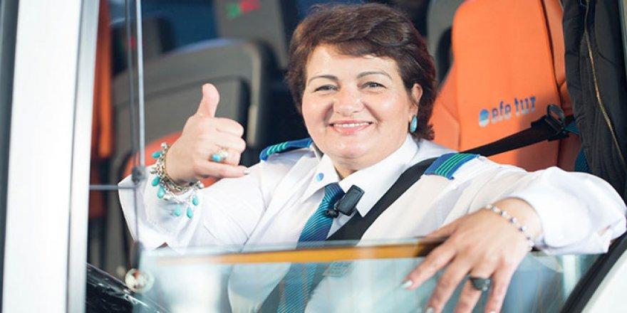 Türkiye'nin tek uzun yol kadın şoförü