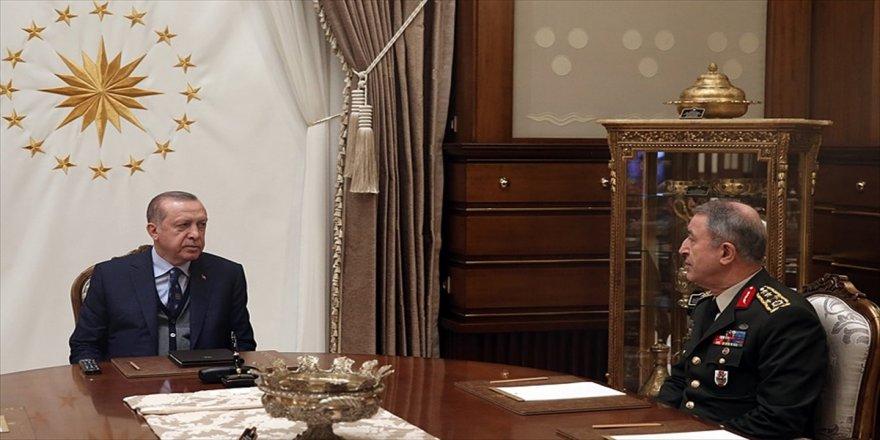 Erdoğan, Orgeneral Akar'ı kabul etti
